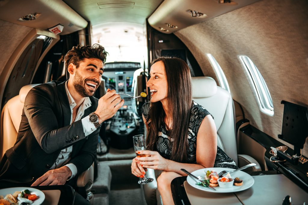 Nourriture : Que me propose Private Jet Charter?
